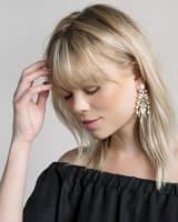 Aryssa Statement Earrings in Rose Zellige