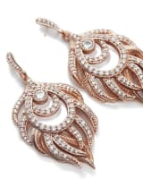 Emelia Statement Earrings in Rose Gold