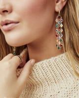 Daya Gold Statement Earrings in Multi Mix