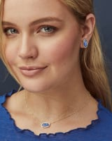 Ellie Gold Stud Earrings in Berry Kyocera Opal Illusion