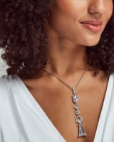 Gracelynn Y Necklace in Lustre Glass