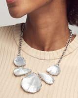 Kenzie Gold Statement Necklace In Aqua Illusion