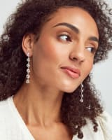Presleigh Love Knot Statement Earrings in Bright Silver