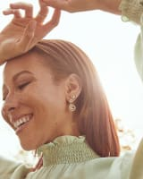 Presleigh Love Knot Stud Earrings in Rose Gold