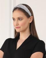 Velvet Braided Headband in Gray