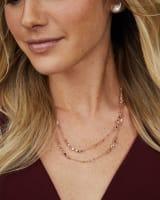 Temple Gold Stud Earrings in Ivory Pearl