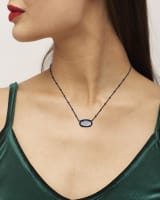 Elisa Gunmetal Satellite Pendant Necklace in Gray Illusion