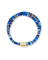 Reece Gold Wrap Bracelet in Blue Mix