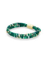 Reece Gold Wrap Bracelet in Green Mix