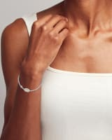 Grayson Silver Stretch Bracelet in Ivory Mother-of-Pearl