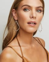 Sophee 14k Rose Gold Drop Earrings in White Diamond