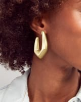 Kaia Hoop Earrings in Gold
