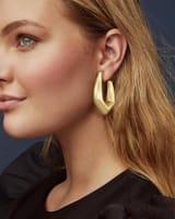 Kaia Hoop Earrings in Vintage Gold