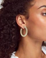 Sonnie Sterling Silver Hoop Earrings in Rainbow Moonstone