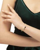 Davie Vintage Gold Bangle Bracelet in Black Mix