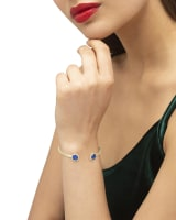 Davie Gold Cuff Bracelet in Cobalt Howlite