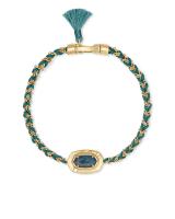 Anna Vintage Gold Friendship Bracelet in Teal Apatite