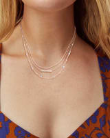 Addison Triple Strand Necklace in Rose Gold