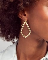 Sophee Crystal Drop Earrings in Gold
