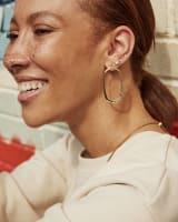 Zorte Hoop Earrings in Silver