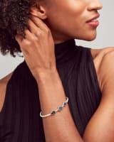 Ivy Vintage Silver Cuff Bracelet in Navy Mix