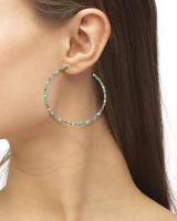 Scarlet Gold Hoop Earrings in Turquoise