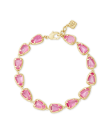 Susanna Gold Link Bracelet in Deep Blush Mother-of-Pearl