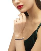 Jack Gold Bangle Bracelet in Multi Crystal