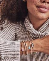 Ari Heart Silver Chain Bracelet in Amethyst