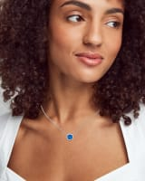 Davie Silver Pendant Necklace in Royal Blue Kyocera Opal