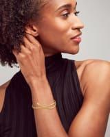 Phoenix Bangle Bracelet in Vintage Gold