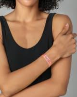 Mom Gold Friendship Bracelet in Pink Mix
