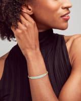 Jack Adjustable Gold Chain Bracelet in Turquoise Crystal