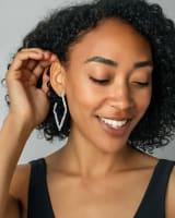 Rylan Hoop Earrings in Silver
