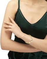 Tomon Gold Stretch Bracelet in White Mussel