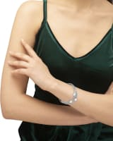 Tomon Silver Stretch Bracelet in Iridescent Abalone