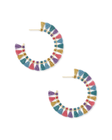 Evie Gold Hoop Earrings in Multi Mix