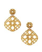 Natalie Statement Earrings in Vintage Gold