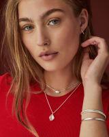 Ellington Pendant Necklace in Bright Silver