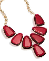 Harlow Statement Necklace in Berry Glass