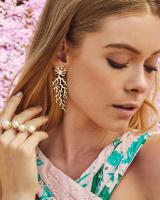 Aviana Statement Earrings in Gold