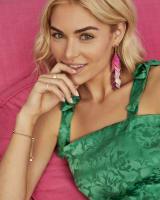 Jennifer Rose Gold Statement Earrings in Abalone Mix