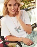 Mari Stone Long Pendant Necklace