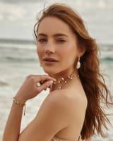 Darcey Drop Earrings in Pearl
