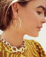Myles Hoop Earrings in Rose Gold