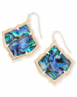Kirsten Gold Drop Earrings in Abalone Shell