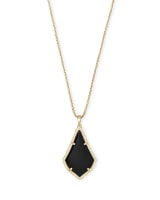 Alex Long Pendant Necklace in Gold