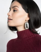 Danielle Earrings in Dark Red