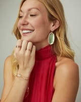 Danielle Gold Drop Earrings in Dichroic Glass