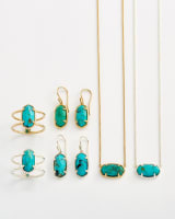 Elisa Sterling Silver Pendant Necklace in Turquoise